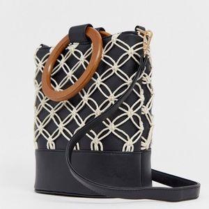 ASOS rope detailed bucket bag